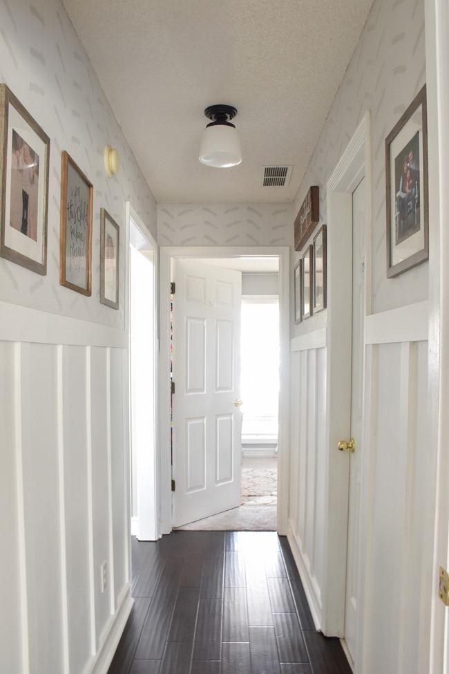 $100 room challenge hallway makeover reveal-27