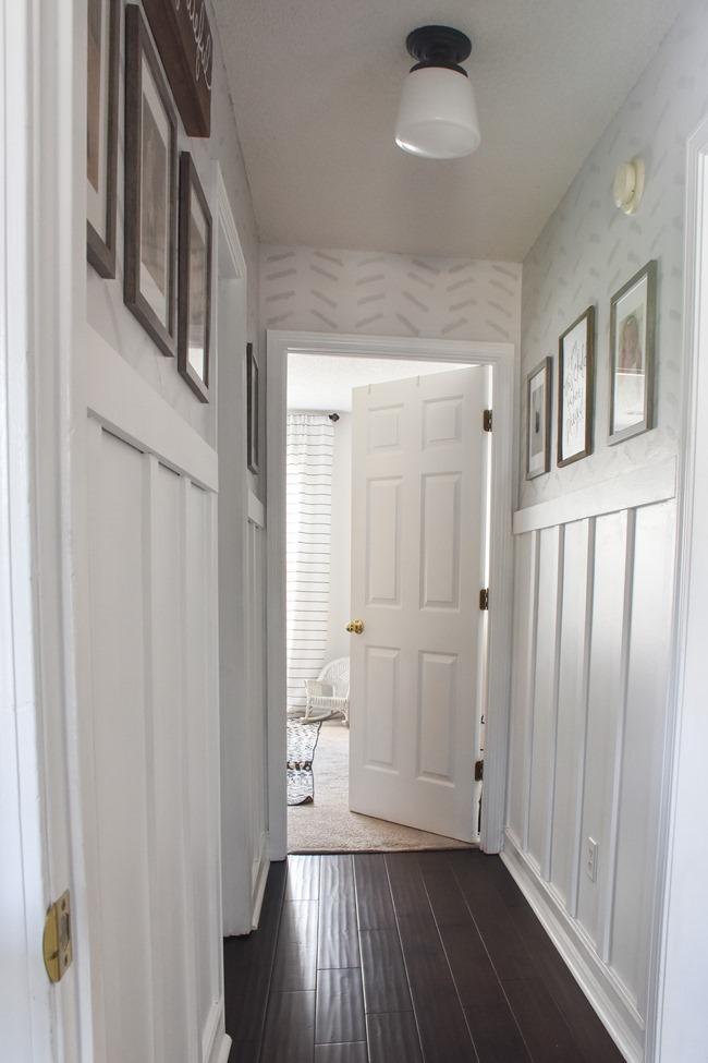 $100 room challenge hallway makeover reveal-3