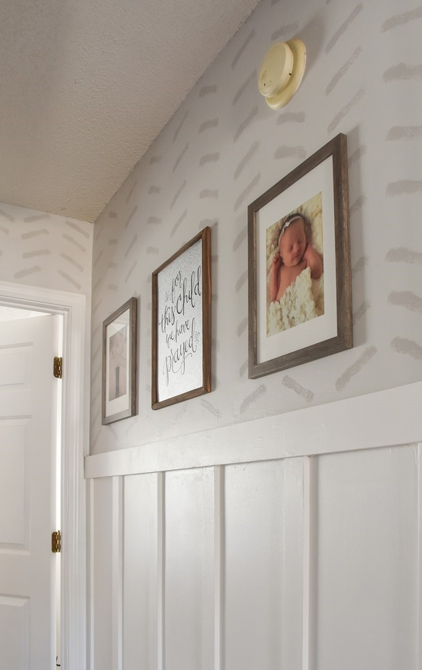 $100 room challenge hallway makeover reveal-6