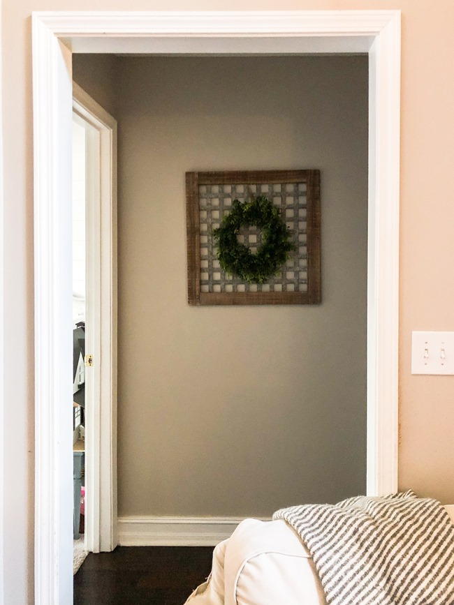 $100 room makeover hallway before-6