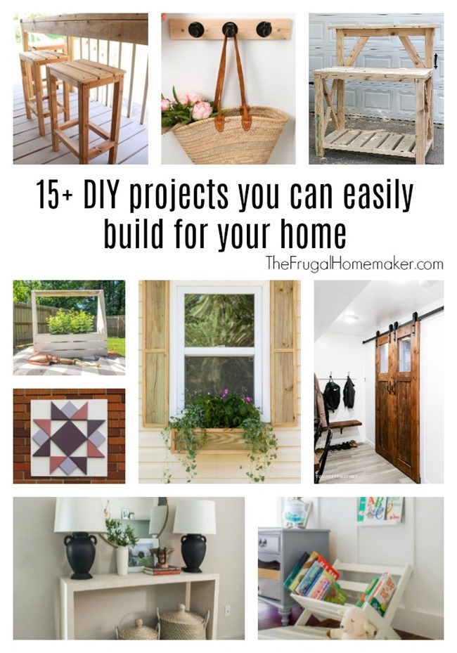 15 DIY projects you can easily build for your home