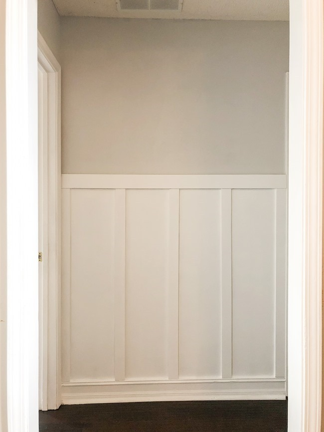How to install board and batten trim in a hallway-17