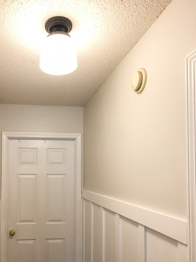 How to install board and batten trim in a hallway-21