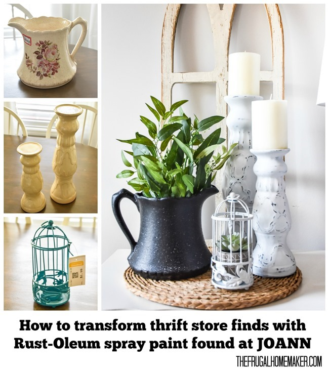 How to transform thrift store finds with Rust-Oleum spray paint found at Joann
