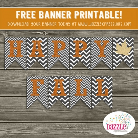 picture regarding Printable Thanksgiving Banners called 31 Times of Tumble Commitment: 20+ uncomplicated Tumble banners The