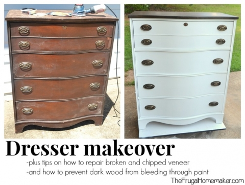 Dresser Makeover How To Fix Chipped