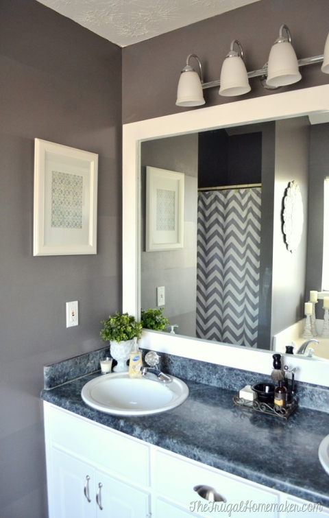 Builder Basic Bathroom Mirror, How To Frame Bathroom Mirrors