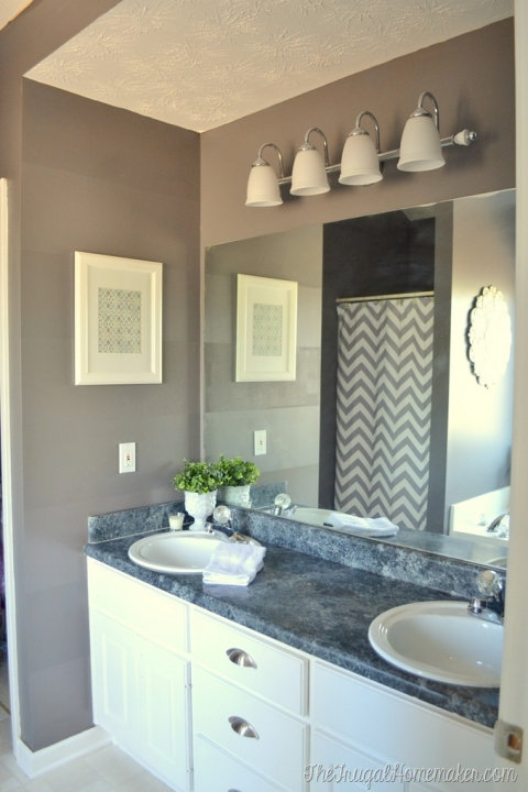Builder Basic Bathroom Mirror, How To Install Trim Around Bathroom Mirror