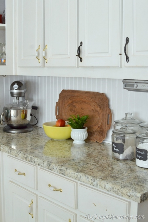 How to install a DIY beadboard backsplash (Kitchen Makeover ...