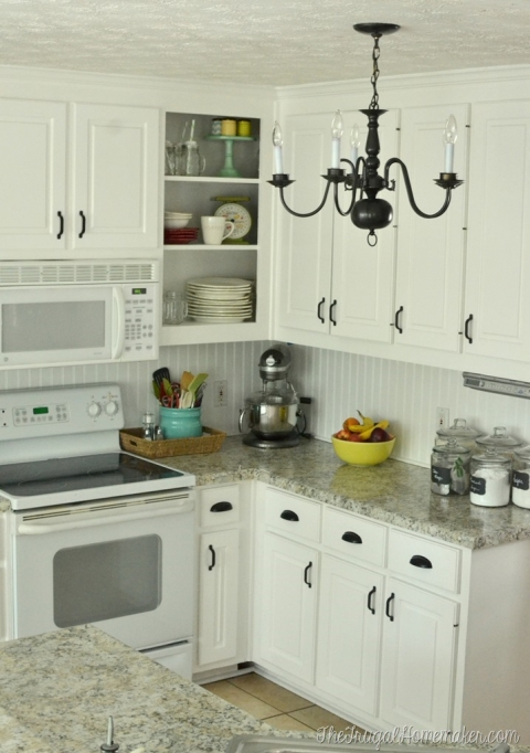 How To Re Paint Your Yucky White Cabinets The Frugal Homemaker