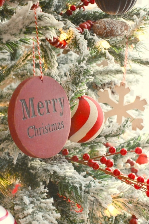 Diy Chalky Finish Painted Wood Christmas Ornaments The Frugal