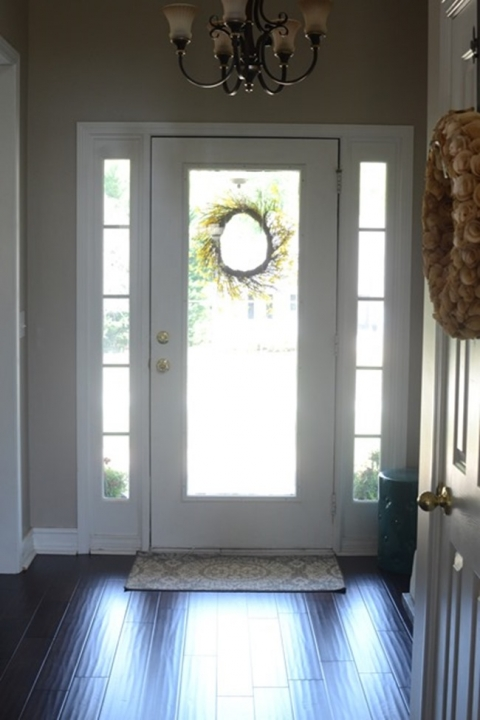 Painting The Inside Of Front Door Black Frugal Homemaker