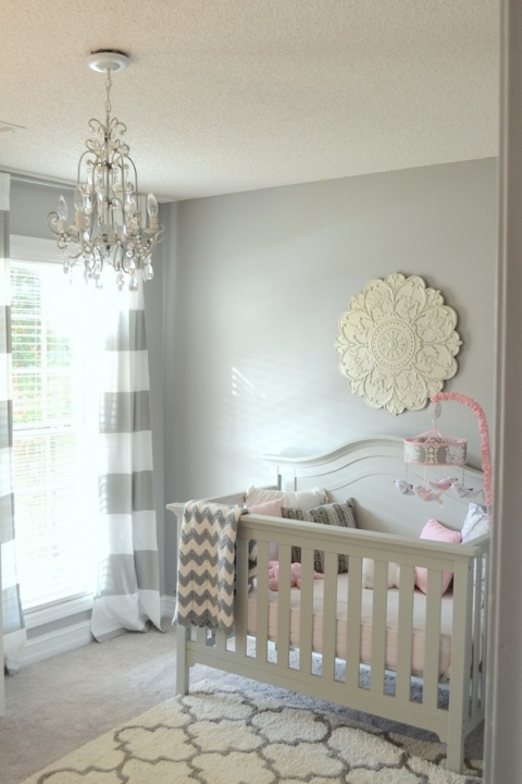 Shiplap wall in the nursery (how to install a faux shiplap