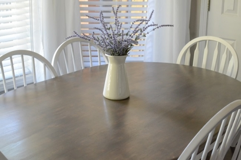 Butcher Block Table And Chairs Farmhouse Style Makeover The Frugal Homemaker