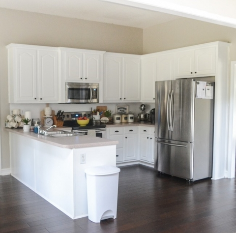 Painted kitchen cabinets makeover with Magnolia paint – The ...