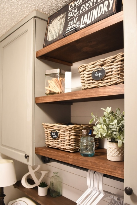 Farmhouse Style Laundry Room Makeover For Less Than 100