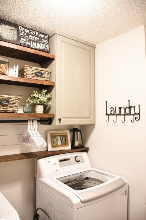 Farmhouse Style Laundry Room Makeover For Less Than 100 The Frugal Homemaker