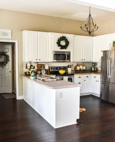 How To Add Character To A Kitchen Peninsula Or Kitchen Island The Frugal Homemaker