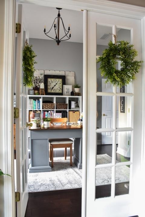 Home Office Craft Room Homeschool Room Reveal The Frugal Homemaker