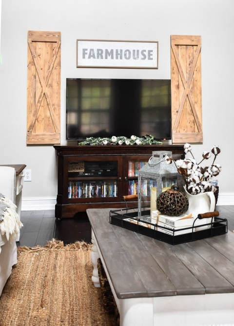 Diy Farmhouse Style Decorative Wood Shutters The Frugal